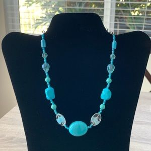 BOGO Turquoise and Silver Necklace with Beads